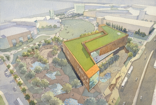 The winning, construction-ready design by Freelon Group of Durham, N.C. and HOK of Atlanta was inspired by the ...
