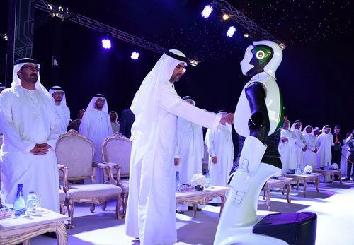 Sheikh Hamed Bin Zayed Al Nahyan launches MBZIRC (PRNewsFoto/Khalifa University)