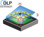 Each DLP(r) Tilt & Roll Pixel is 1/20th the width of a human hair.  (PRNewsFoto/Texas Instruments DLP Products)