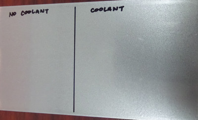 COATING COMPARISON: NO COOLANT VS. QUAKERCOOL(R) 750 TP COOLANT