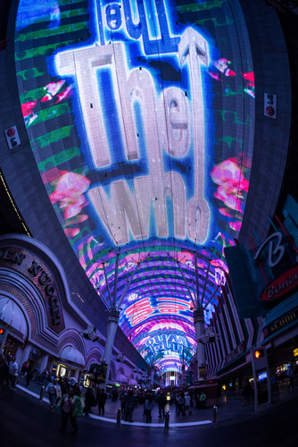 Fremont Street Experience debuts its newest Viva Vision(R) show The Who - Miles Over Vegas in Downtown Las ...