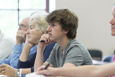 Students of all ages engage in the study of history, economics and politics at Hillsdale College's Hostel program.