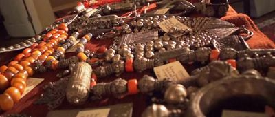 A jaw-dropping lifetime collection of a retired geologist will draw serious collectors to his living estate sale to be run by Fitch Estate Sales and scheduled for May 15-17 in Kerrville, Texas. The collection includes items from around the world, including West Africa, Asia, the Middle East and Central and South America. Among the items to be had in the sale are several pieces of Yemeni silver and coral jewelry. (PRNewsFoto/WorthPoint)