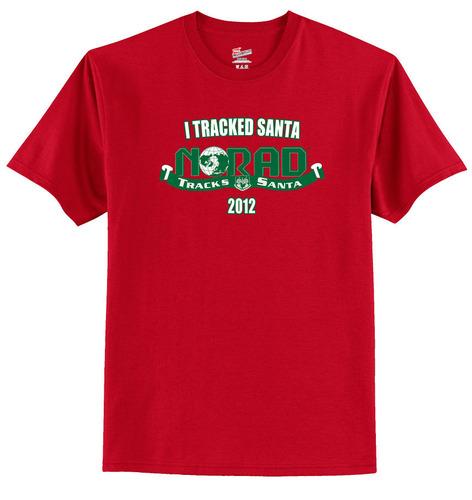 NORAD Tracks Santa t-shirt.  (PRNewsFoto/U.S. Allegiance, Inc.)