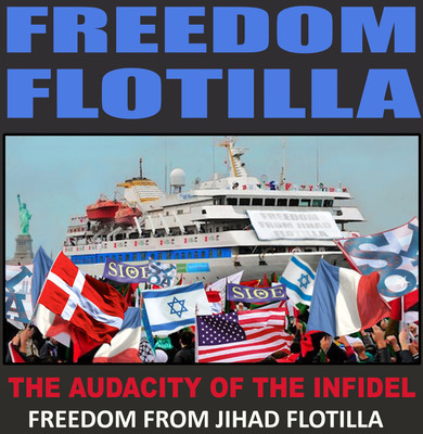 Manipulated Image: The Freedom From Jihad Flotilla will set sail from New York City on September 11, 2011.  (PRNewsFoto/Jihad Watch)