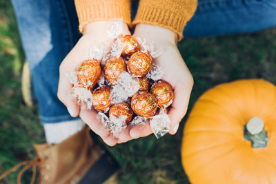 Fall in love with a new favorite: Lindt LINDOR Pumpkin Spice truffles.