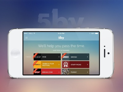 5by (app.5by.com) is one of the world's largest video discovery apps and is the simplest and fastest way to find, watch, and share the best videos from across the web. Today, 5by announced partnerships with VICE Media, Tribeca Enterprises, and DEFY Media. 5by was acquired by StumbleUpon in September 2013 and debuted in the App Store and on Google Play in late January. The personal video concierge has been featured by both Apple and Google, and drives millions of video views per month.  (PRNewsFoto/StumbleUpon)
