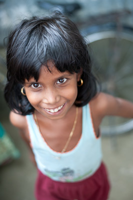 A young patient after a successful cataract surgery in Guwahati, India.