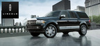 The 2014 Lincoln Navigator exhibits a best-in-class tow rating of 9,000 lbs.  (PRNewsFoto/Mike Castrucci Ford of Alexandria)
