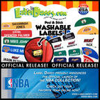 Label Daddy proudly announces the official launch of the NBA Collection! Customize your own NBA themed, peel and stick washable labels online at www.labeldaddy.com.  (PRNewsFoto/Label Daddy)