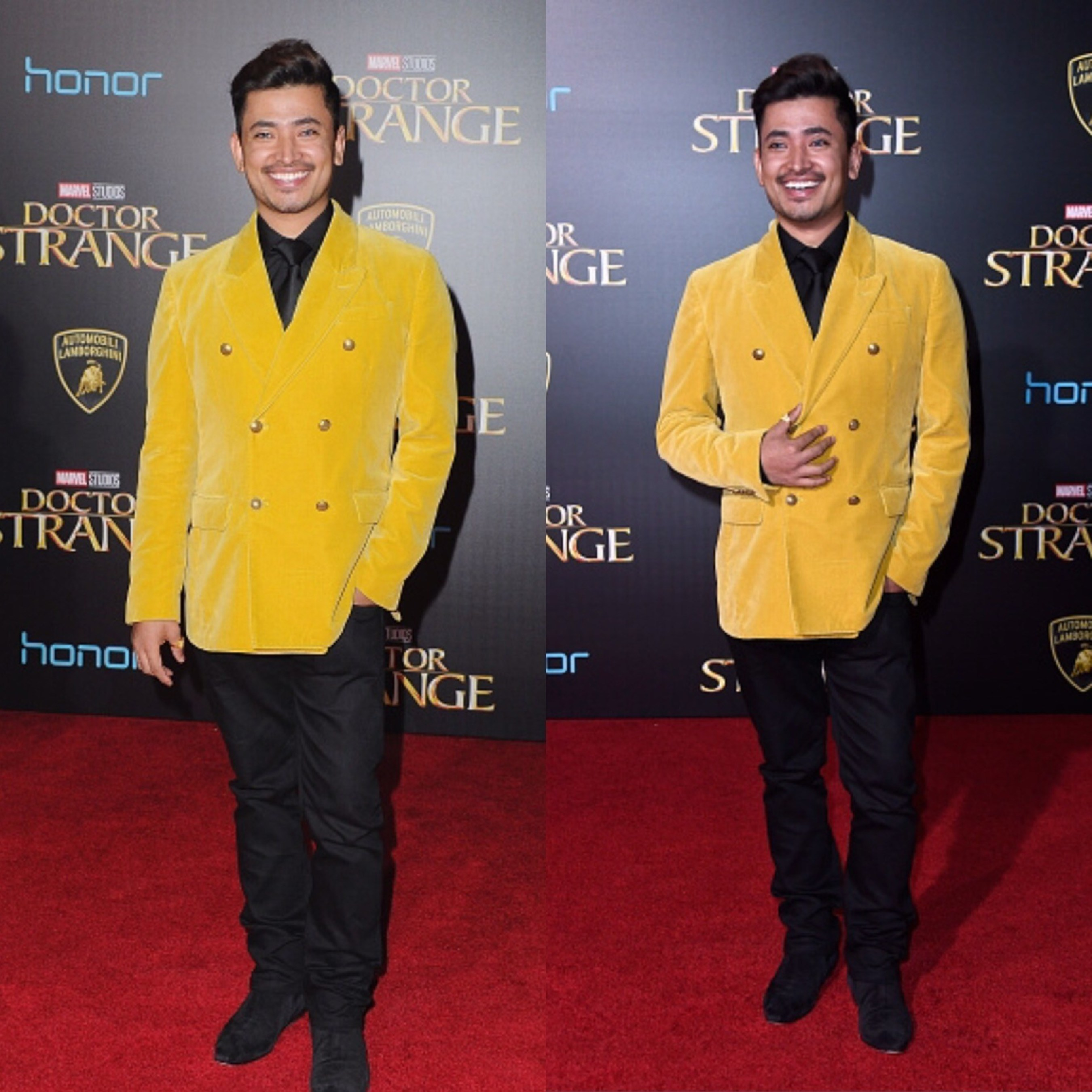 """Pritan Ambroase attends the world premiere of Marvel Studios' """"Doctor Strange"""" at the El Capitan Theatre in Los Angeles on October 20, 2016."""