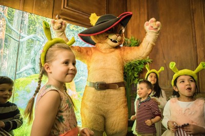 Puss in Boots - Fairy tales brought to life for the next generation through live actors in London's 'DreamWorks Tours Shrek's Adventure!' (PRNewsFoto/Dreamworks Tours)