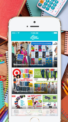 Back to school shopping using the Flipp app.