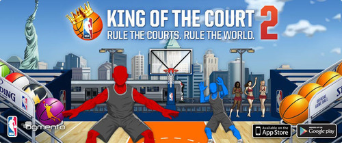 The hit mobile basketball game is back! NBA: King of the Court has a new 40 level single player mode, dynamic shooting mechanic, and customizable courts! Available on the App Store and Google Play!.  (PRNewsFoto/Ogmento)