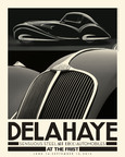 "A classic Delahaye car from the Frist Center's ""Sensuous Steel"" exhibition inspired this BOHAN-created poster. The display of Art Deco vehicles is the latest in a 12-year series of art exhibitions from around the world that has provided BOHAN Advertising numerous opportunities for captivating marketing materials.  (PRNewsFoto/BOHAN Advertising)"