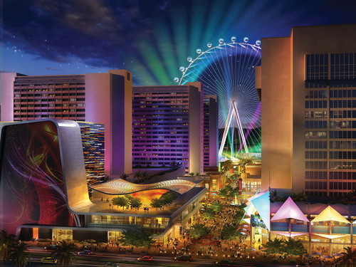 The LINQ, Caesars Entertainment's $550-million retail, dining and entertainment district, will feature trendsetting brands like Brooklyn Bowl and Sprinkles Cupcakes. The project is on schedule to open in 2013.  (PRNewsFoto/Caesars Entertainment)