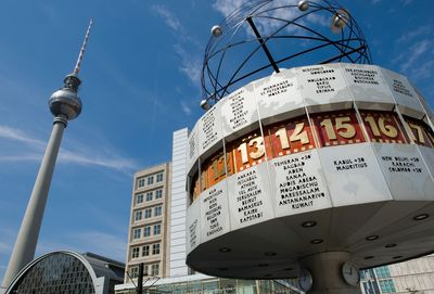 Tower and World Clock at Alexanderplatz (c) visitBerlin, Photo: Wolfgang Scholvien More Berlin Highlights 2015: www.visitberlin.de/en/experience/events/this-years-highlights