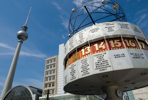 Tower and World Clock at Alexanderplatz (c) visitBerlin, Photo: Wolfgang Scholvien More Berlin Highlights 2015: www.visitberlin.de/en/experience/events/this-years-highlights (PRNewsFoto/visitBerlin)