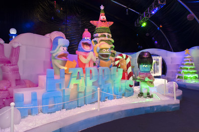 The new ICE LAND Ice Sculptures with SpongeBob SquarePants holiday attraction at Moody Gardens on Galveston Island, TX is receiving high praise from visitors who are enjoying this uniquely festive and artistic addition to the numerous attractions available for families at this popular Gulf Coast destination.