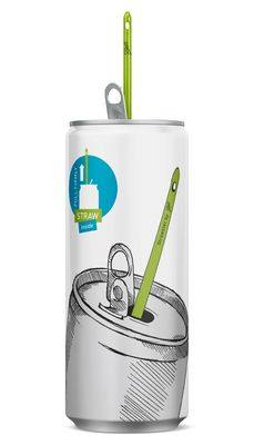 Ball's Strawster Opens Up Potential for New Market Penetration. The integrated drinking straw, which 'magically' appears once the can is opened, creates a unique, fun and convenient drinking experience for consumers. (PRNewsFoto/Ball Packaging Europe) (PRNewsFoto/Ball Packaging Europe)