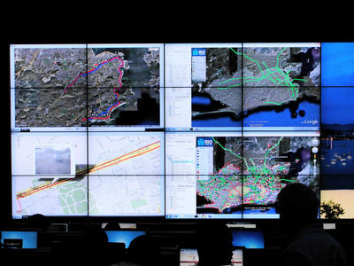 The new Operations Center in Rio provides the incident commander and responders with a single, unified view of all the information that they require for situational awareness.  (PRNewsFoto/IBM)