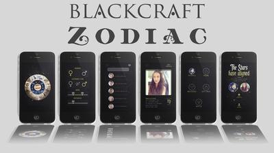 Preview images of new Blackcraft Zodiac app (PRNewsFoto/Blackcraft Cult Inc.)