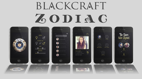 Preview images of new Blackcraft Zodiac app (PRNewsFoto/Blackcraft Cult Inc.)