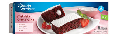 New Weight Watchers Red Velvet Creme Cakes. (PRNewsFoto/Weight Watchers Sweet Baked Goods) (PRNewsFoto/WEIGHT WATCHERS SWEET BAKED GOOD)