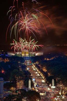 As the birthplace of America, Philadelphia knows how to shine. Fireworks blazing over the Philadelphia Museum of Art are a Fourth of July tradition during Philadelphia's multi-day Wawa Welcome America! bash. Timed perfectly with exhilarating live music, the fireworks paint the skies over the Benjamin Franklin Parkway.  (PRNewsFoto/Greater Philadelphia Tourism Marketing Corporation, G. Widman)