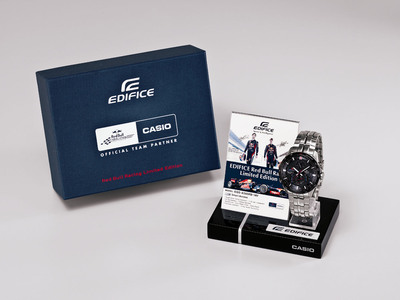 Casio and Red Bull Racing Collaborate to create a limited edition EDIFICE men's watch.  (PRNewsFoto/Casio America, Inc.)