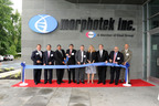 Morphotek, Inc., a wholly-owned subsidiary of Eisai Co., Ltd., commemorates the opening of its newly constructed pilot manufacturing plant in Exton, PA. Pictured left to right are Christopher Molineaux, President, Pennsylvania Bio; Hideki Hayashi, Deputy President and Chief Product Creation Officer, Eisai Co., Ltd.; Nick Nicolaides, President and CEO, Morphotek, Inc.; Haruo Naito, President and CEO, Eisai Co., Ltd.; Philip Sass, Executive Vice President and COO, Morphotek, Inc.; Joye Bramble, Vice President, Pilot Plant Operations, Morphotek, Inc.; Pennsylvania State Senator Andy Dinniman; Eli Avila, Pennsylvania Secretary of Health, and Luigi Grasso, Chief Scientific Officer, Morphotek, Inc.  (PRNewsFoto/Morphotek(R), Inc.)