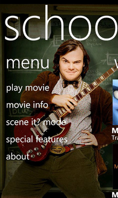 Paramount Digital Entertainment's School of Rock Enhanced Mobile Movie Application.  (PRNewsFoto/Paramount Digital Entertainment)