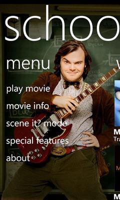 Paramount Digital Entertainment's School of Rock Enhanced Mobile Movie Application.  (PRNewsFoto/Paramount Digital Entertainment)