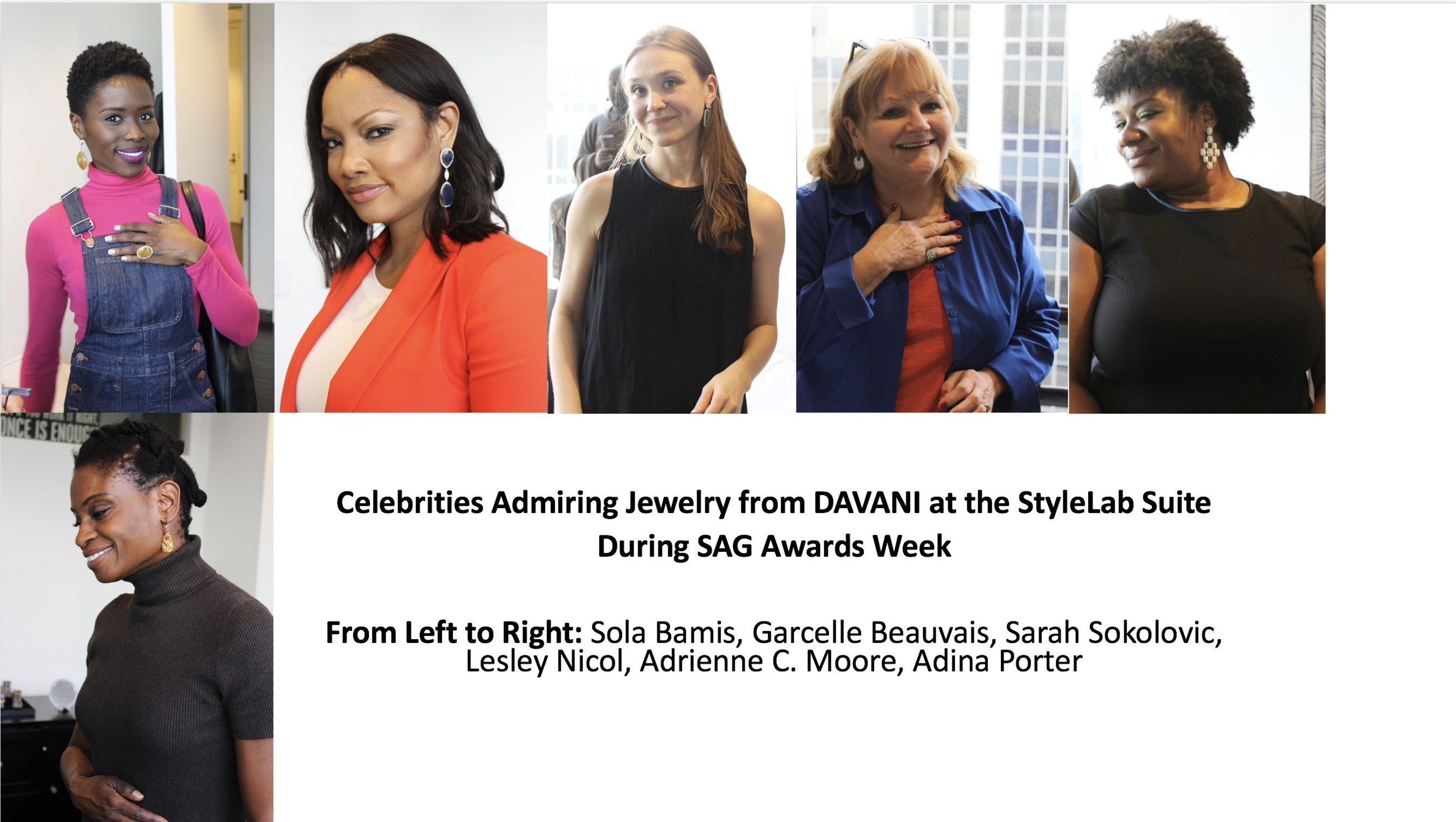 Celebrities And Their Stylists Previewed Jewelry From DAVANI At StyleLab's Suite During SAG Awards Week