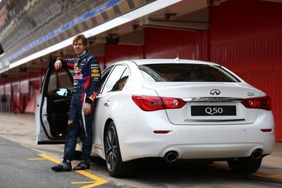 Three Time Formula One World Champion Sebastian Vettel Signs as Infiniti's Director of Performance.  (PRNewsFoto/Infiniti)