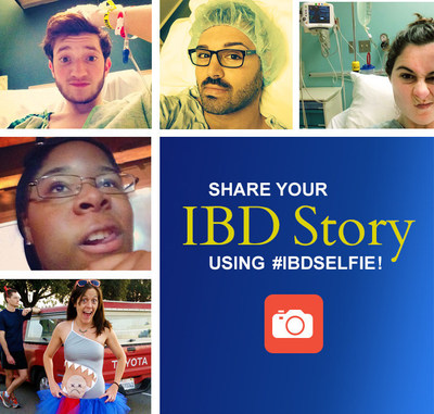 Share your story of Crohn's and ulcerative colitis using #IBDselfie.