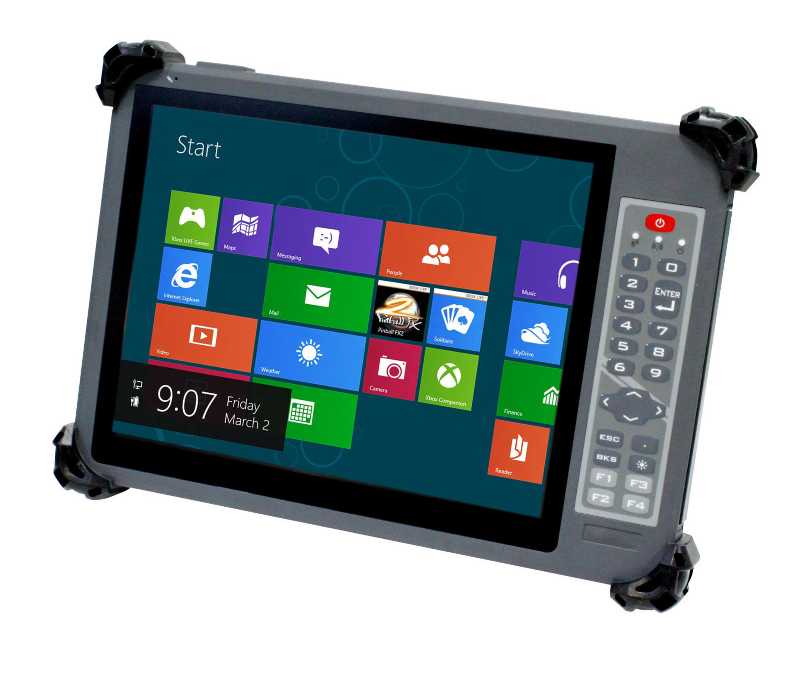 Arbor Gladius G1052C rugged tablet for mobile and portable applications including POS and mPOS.