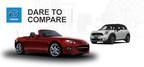 2015 Mazda MX-5 Miata vs. 2014 Mini Cooper (PRNewsFoto/Beach Mazda)