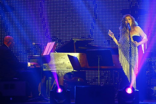 The Spanish flamenco singer Estrella Morentes and Cuban pianist Chucho Valdes (PRNewsFoto/HABANOS SA) ...