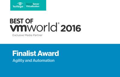 Best of VMworld 2016 Finalist Award