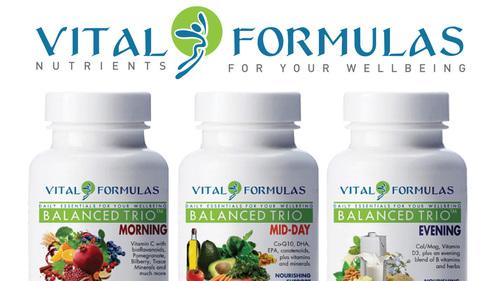 Balanced Trio bottles (PRNewsFoto/Vital Formulas)