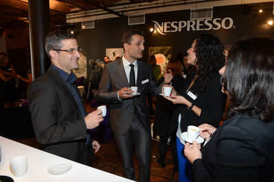 Nespresso hosts its first U.S. Coffee Campus in New York, September 10-14. Far Left: Edouard Thomas, Nespresso Coffee Sensory Expert; Middle Left: Frederic Levy, Nespresso President USA.  (PRNewsFoto/Nestle Nespresso SA)