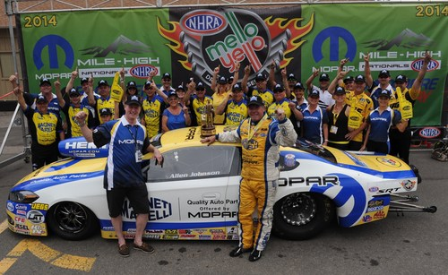Allen Johnson drives Dodge Dart to a third consecutive win and sixth total at Mopar Mile-High NHRA Nationals ...