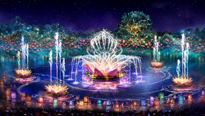 "Debuting April 22, 2016, ""Rivers of Light"" will be an innovative experience unlike anything ever seen in a Disney park, combining live performances, floating lanterns, water screens and swirling animal imagery. ""Rivers of Light"" will come to life as a pair of mystical hosts comes to Discovery River bearing gifts of light. During the show, the hosts set out from the shore on elaborate lantern vessels for a dance of water and light to summon the animal spirits. (Disney Parks)"