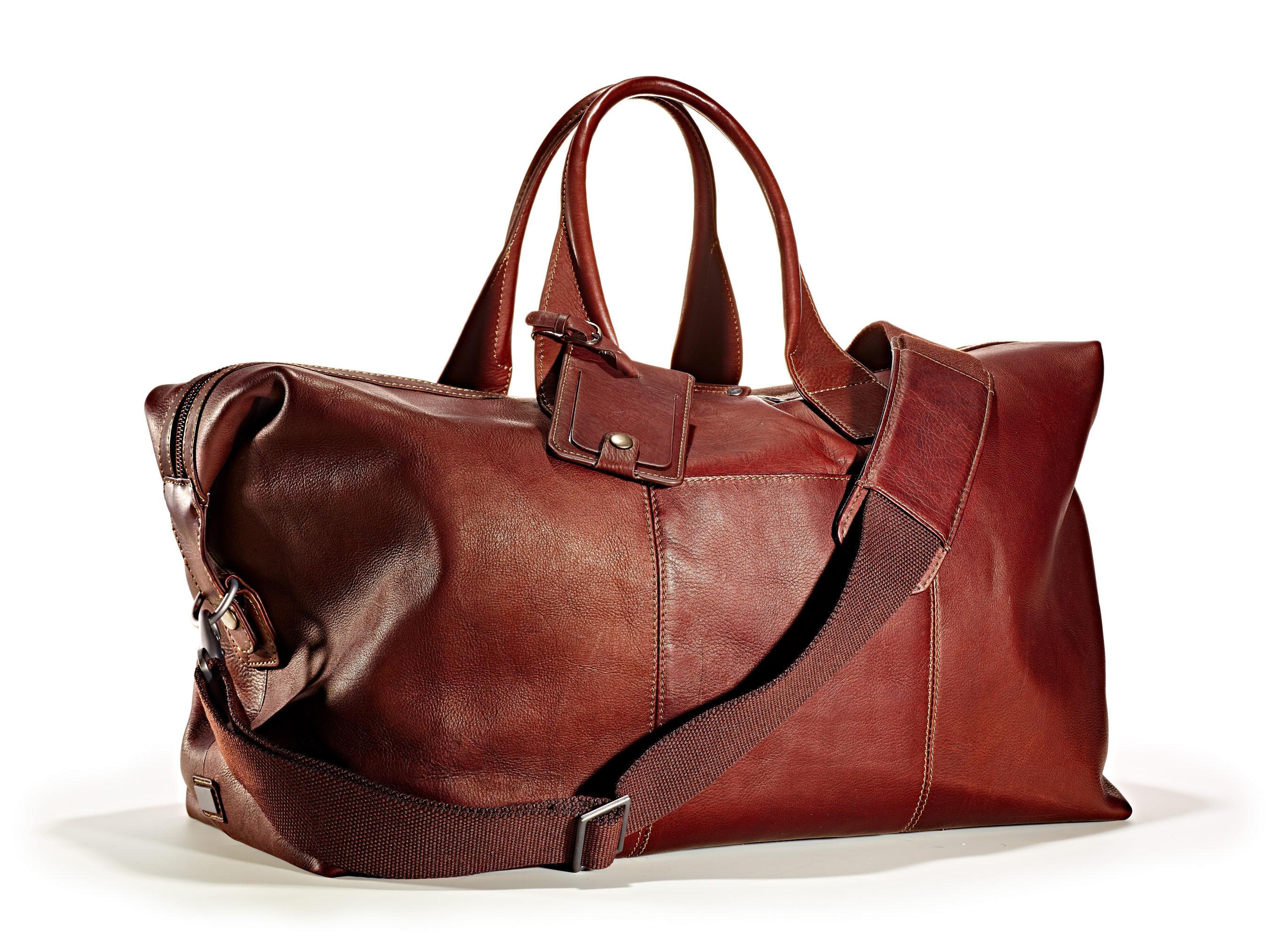 Italian Leather Duffel Bag - T.J.Maxx