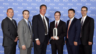 Vari-Form was honored as 2015 Supplier of the Year for Supply Chain Management during the Qualitas Annual Strategy Meeting and Supplier Awards Ceremony held recently at the MotorCity Hotel in Detroit. Scott Garberding, Head of Group Purchasing, Fiat Chrysler Automobiles N.V. (FCA) (at right), and Tom Finelli, Head of North America Group Purchasing FCA US (to his right), presented the award to Vari-Form executives Doug Viohl and Randy Nicholls (center). Also present were Christopher Barrette...