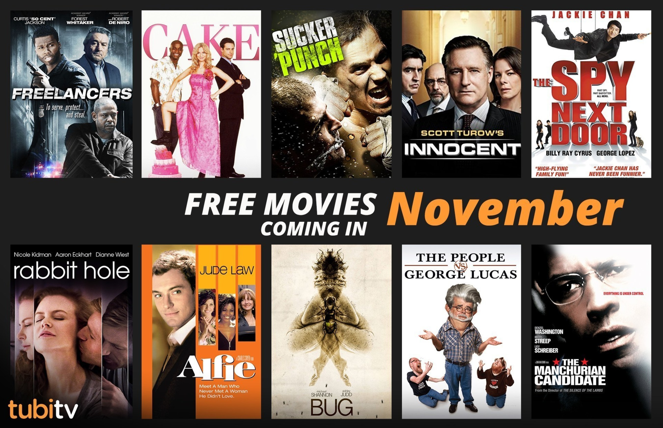 Tubi TV Releases New Lineup of Free Streaming Movie Offerings for November 2016