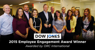 Dow Jones honored for Employee Engagement initiatives.