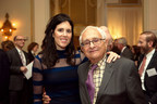 HMS Board of Fellows members Bevin Kaplan and her father, Herbert M. Kaplan, who are continuing the philanthropic legacy of Warren Alpert