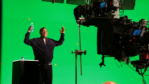 Behind the Scenes of MiO Fit Super Bowl XLVII Commercial With Tracy Morgan. (PRNewsFoto/Kraft) ...